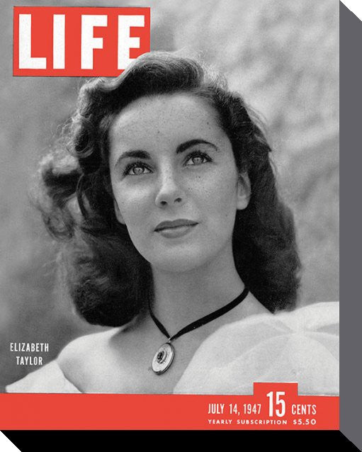 Time Life Cover Elizabeth Taylor Canvas Print - www.entertainmentstore.in