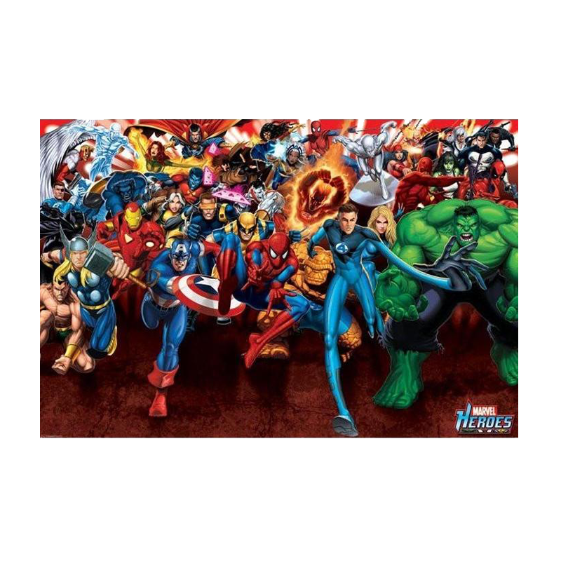 Marvel Heroes Attack Maxi Poster - www.entertainmentstore.in