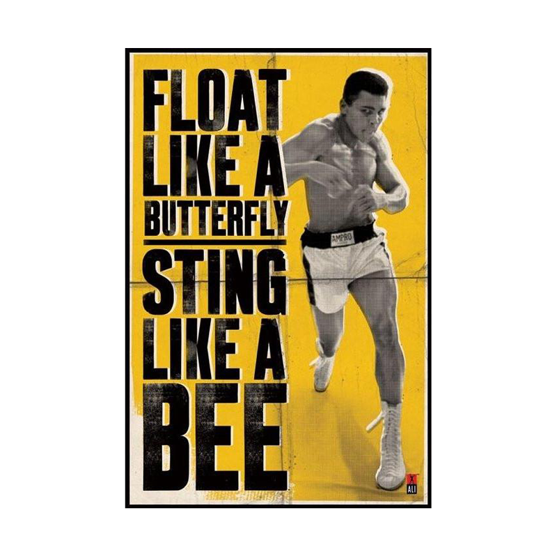 Muhammad Ali Float Like a Butterfly Maxi Poster - www.entertainmentstore.in