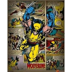 Marvel Comics (wolverine Retro) - Mini Poster