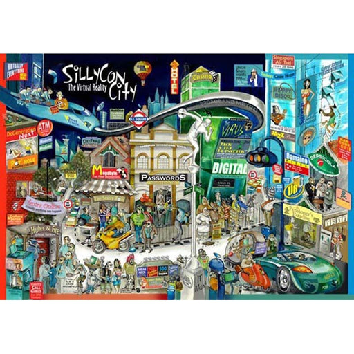 Apaulogy Silycon City The Virtual Reality Framed Print