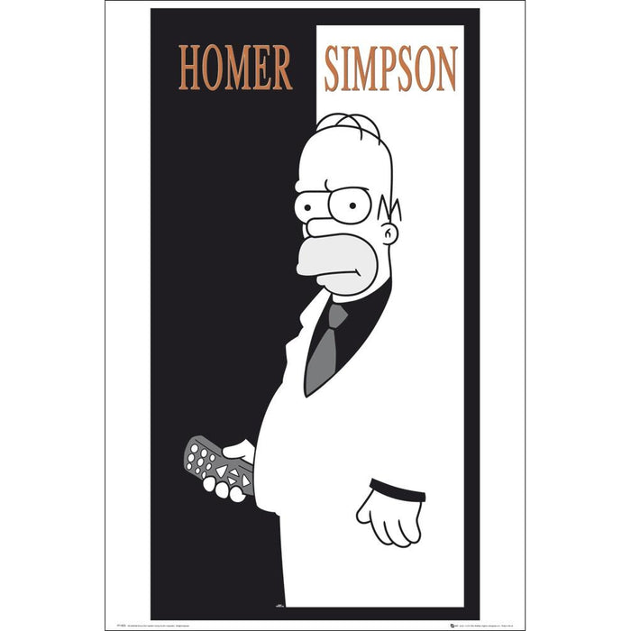 Simpsons Homer Scarface Maxi Poster