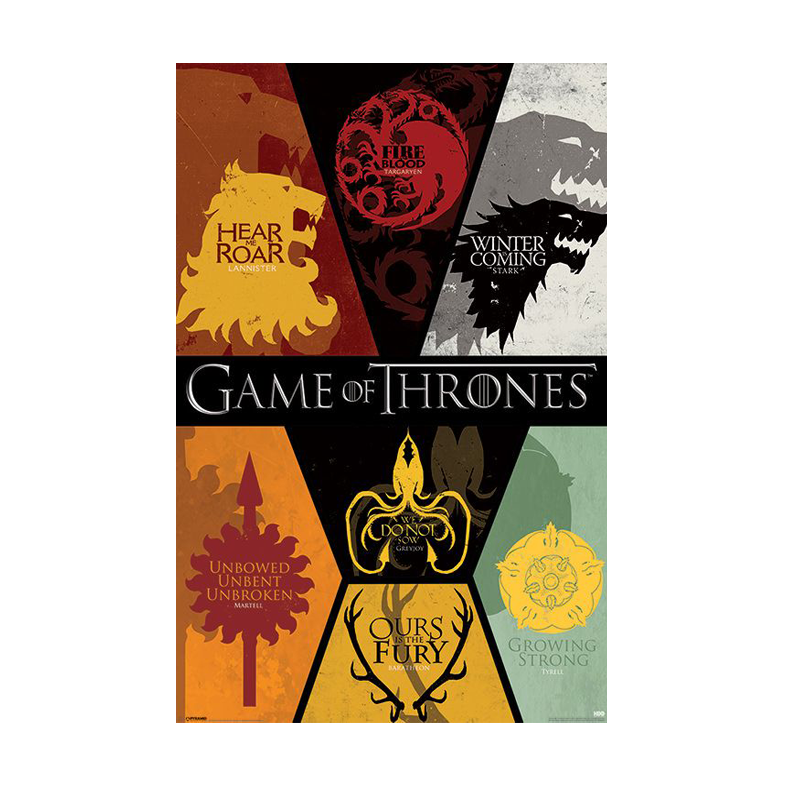 Game of Thrones Sigils Maxi Poster - www.entertainmentstore.in