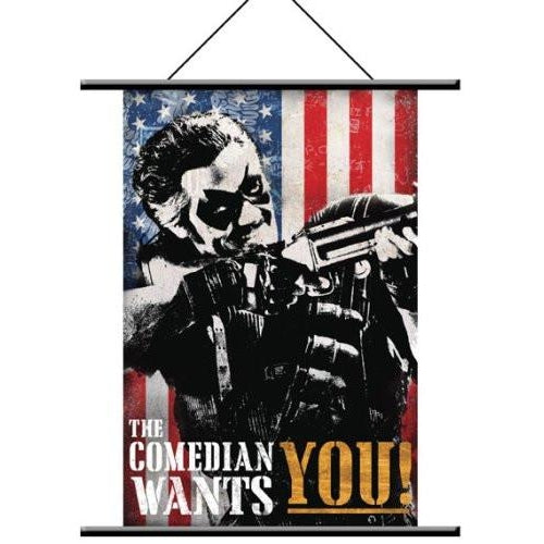 Watchmen - Wall Scroll Comedian Pop Art  - Fabric Poster