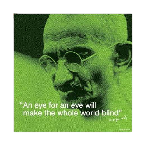 Mahatma Gandhi (Iquote) Art Print - www.entertainmentstore.in