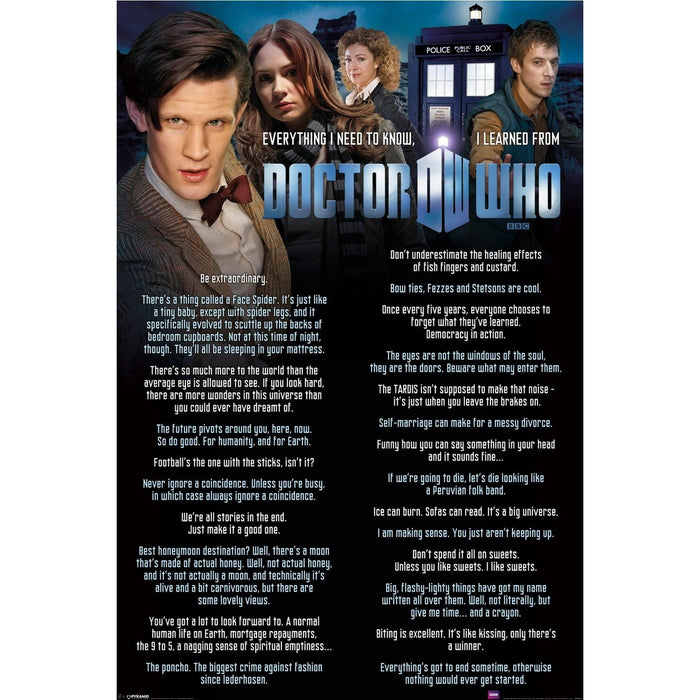 Doctor Who Everything I Know? Maxi Poster
