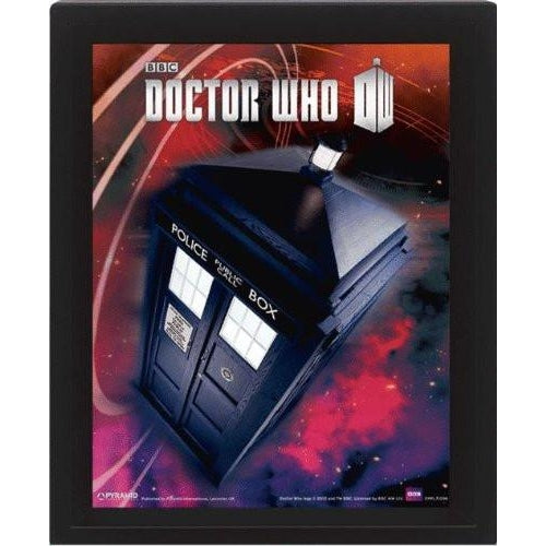 Doctor Who Flying Tardis 3D Lenticular Framed Print
