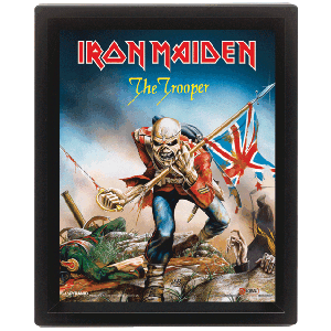 Iron Maiden The Trooper 3D Lenticular Framed Print