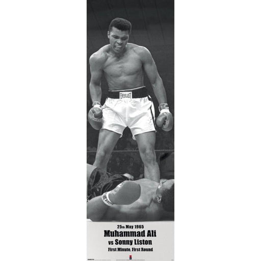 Muhammad Ali V Liston Door Poster