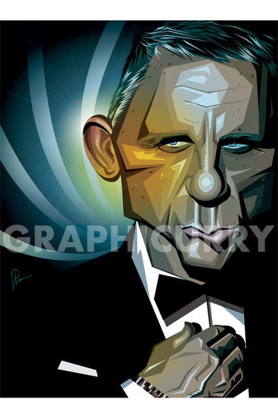Bond - Craig Printed On Sunbaord