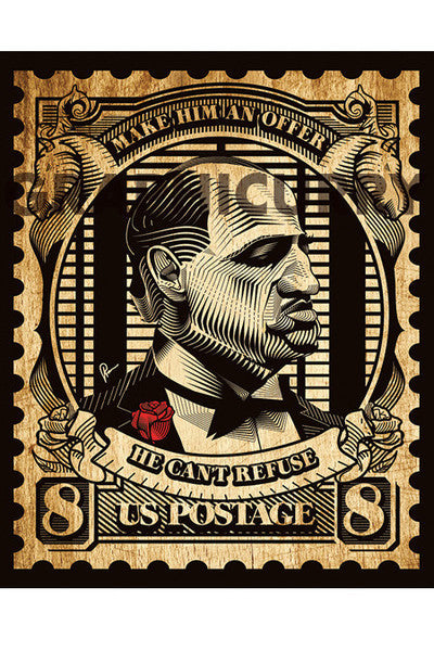 The Godfather Stamp Printed On Sunbaord
