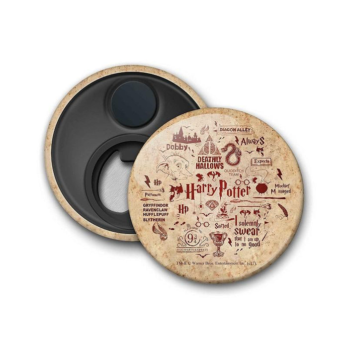 Harry Potter Inforgraphic Red Magnet
