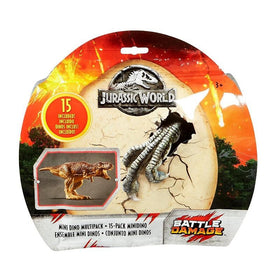 Jurassic World Fallen Kingdom mini Dino multipack 15 pack Battle Damage.
