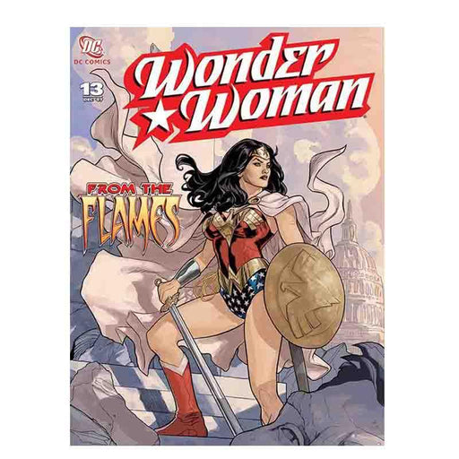 Wonder Woman From The FlamesCanvas Print