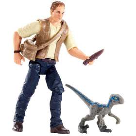 Jurassic World Basic Figure Owen & Baby Blue Figure