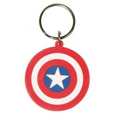 Captain America Shield Bendable Keychain