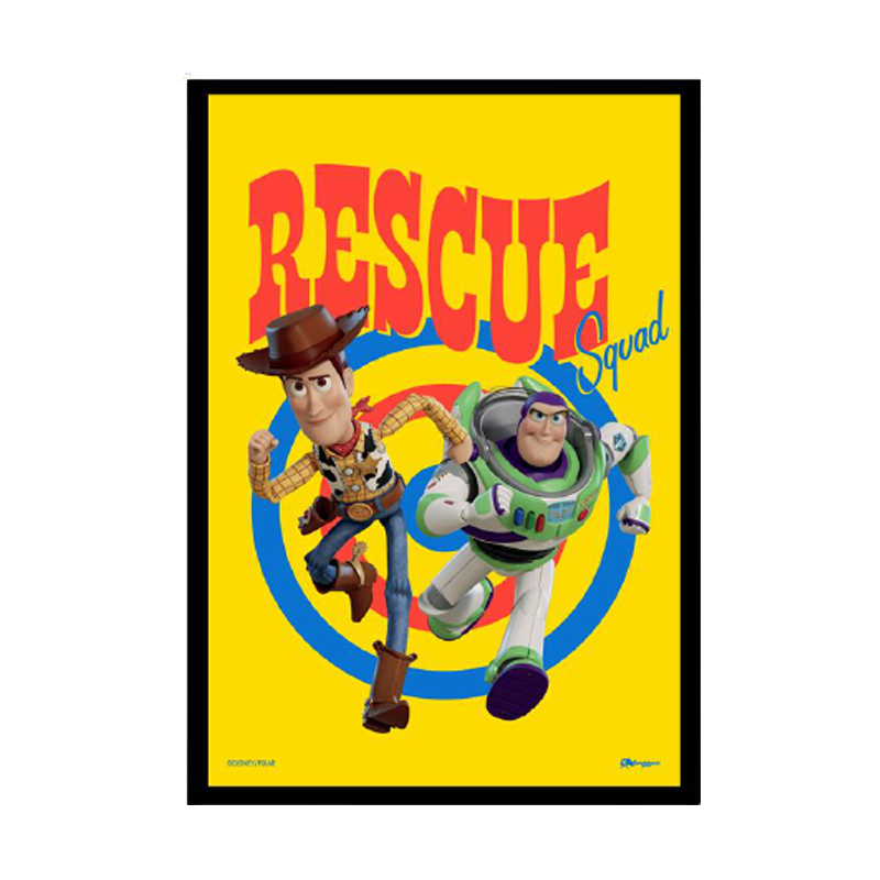 Toy Story Woody And Buzz Framed Poster - www.entertainmentstore.in