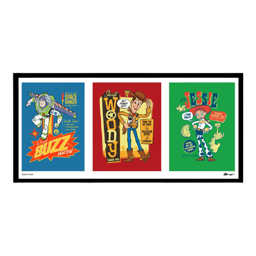 Toy Story Triptych Framed Poster - www.entertainmentstore.in