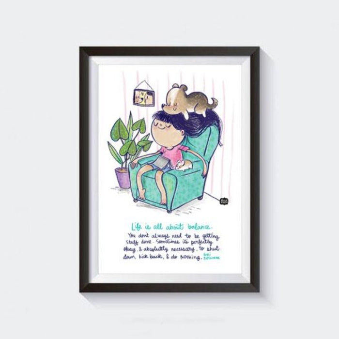 Balanced Life Wall Art With Frame