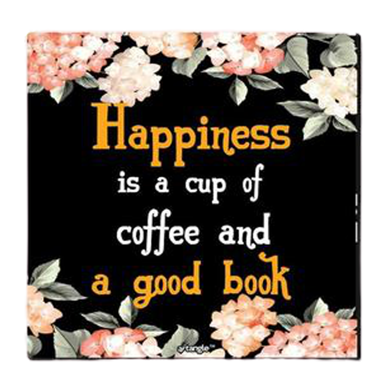 Happiness Is Coffee And A Good Fridge Magnet - www.entertainmentstore.in