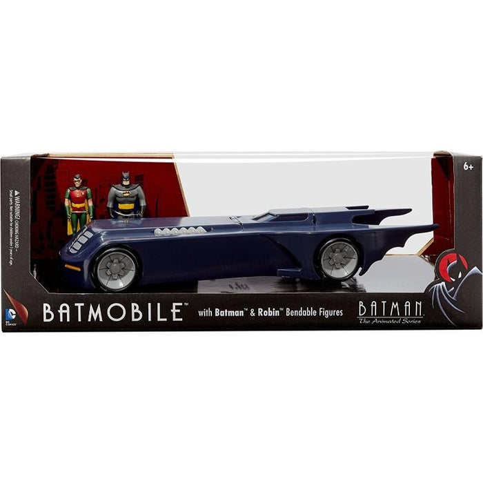 Batmobile With Batman And Robin Bendabe Figures