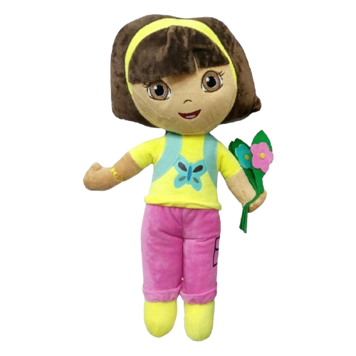 Dora With Flower Pink And Yellow Plush Toy