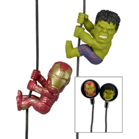 Avengers Age of Ultron Iron Man and Hulk Scalers 2 Pack With Custom Earbuds