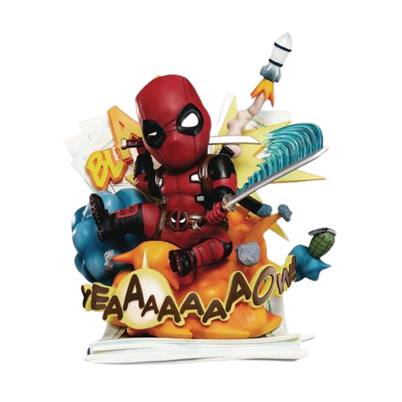 Marvel Deadpool Cut Off the Fourth Wall Statue