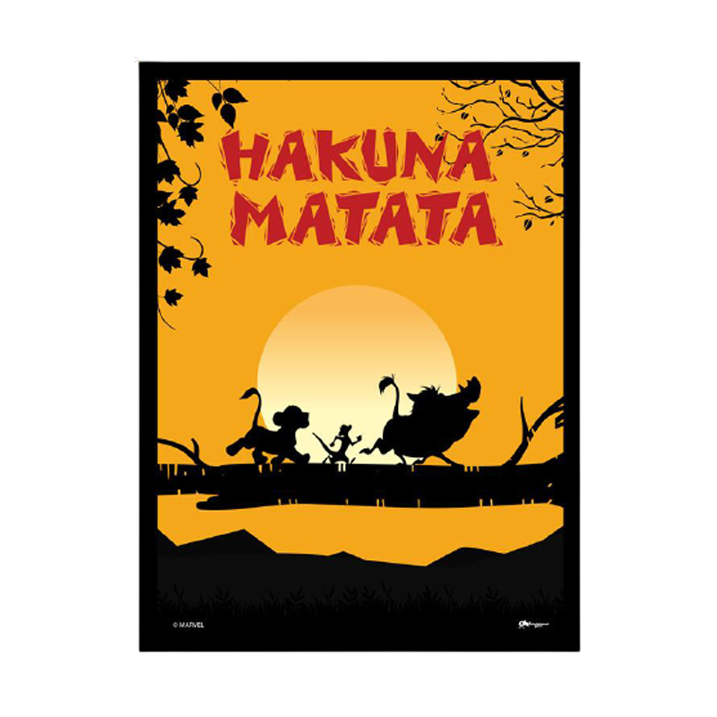Lion king Hakuna Matata Framed Poster - www.entertainmentstore.in