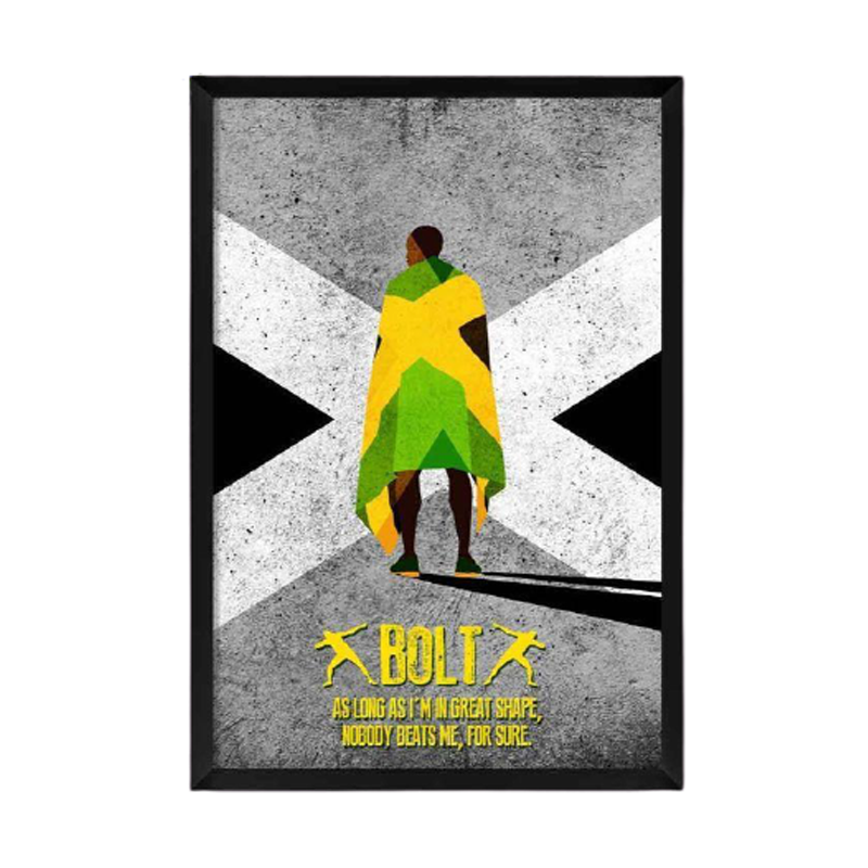 Bolt As Long As Im In Great Shape Framed Poster - www.entertainmentstore.in