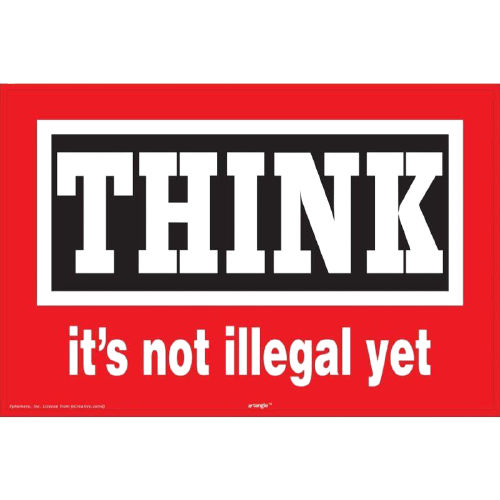 Think Its Not Illegal Yet Framed Poster - www.entertainmentstore.in