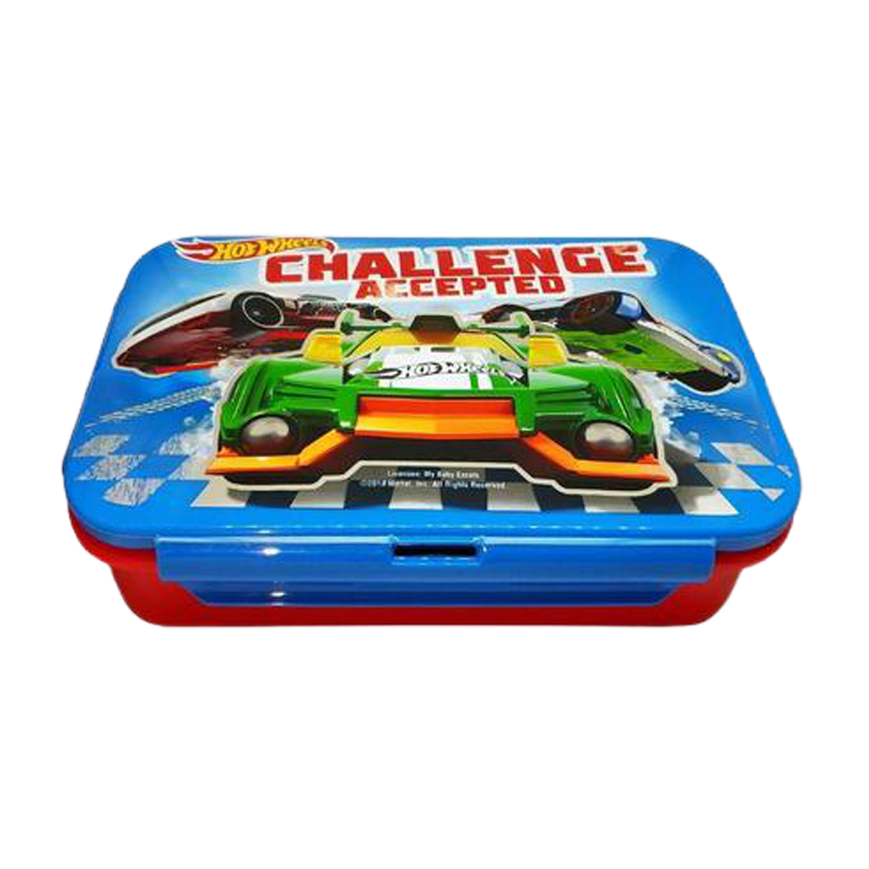 Hot Wheels Challenge Accepted Steel Lunch Box - www.entertainmentstore.in