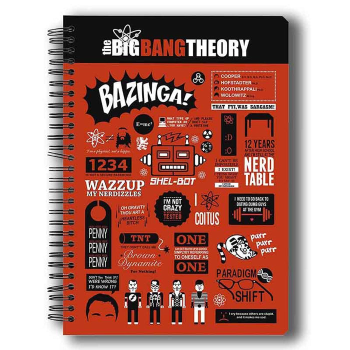 Big Bang Theory Infographic Notebook