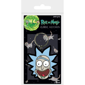 Rick and Morty Rick Crazy Smile Rubber Keychain