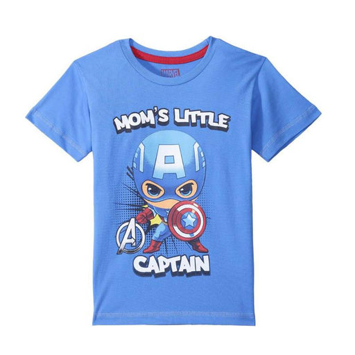 Captain America (940) Blue Kids T Shirt 5 - 6 Years