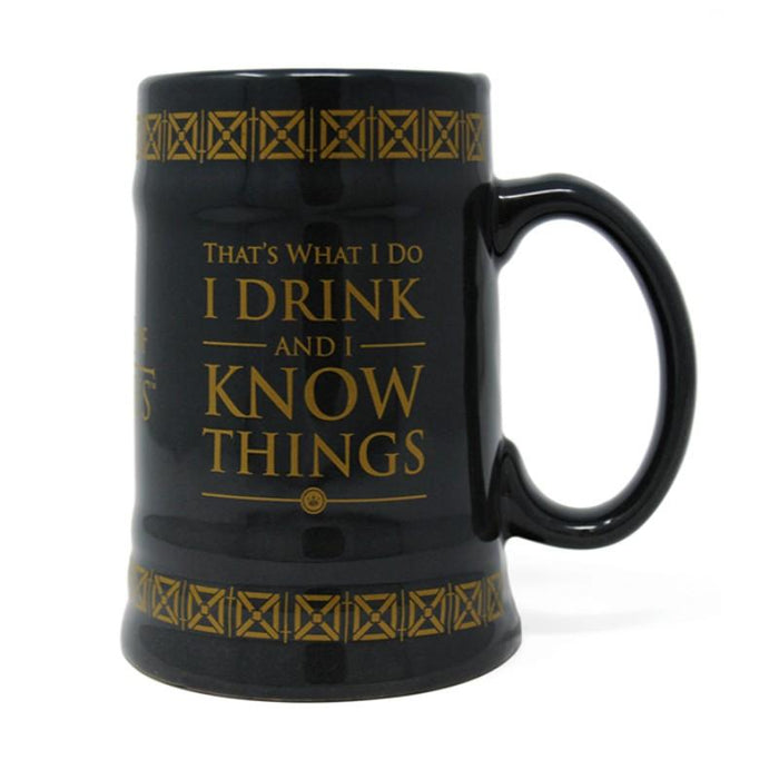 Game Of Thrones Drink & Know Things Ceramic Stein