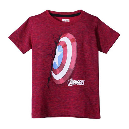 Captain America (948) Red Tex Kids T Shirt
