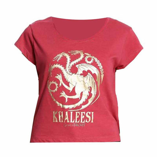 Game Of Thrones (802) Berry Red Melange Womens T Shirt