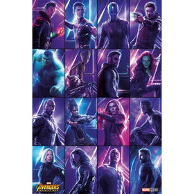Avengers Infinity War Heroes Maxi Poster