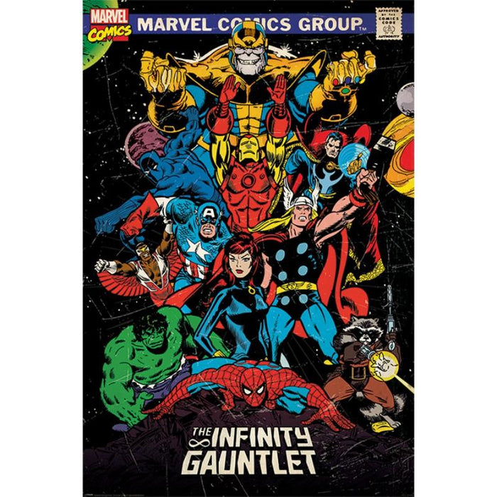 Marvel Retro The Infinity Gauntlet Maxi Poster - www.entertainmentstore.in