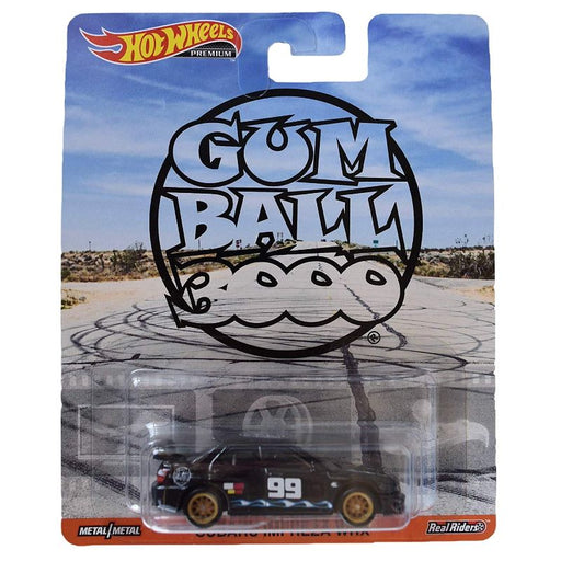 Hot Wheels Gum Ball Booo Premium Sabaru Impreza WRX Black - www.entertainmentstore.in
