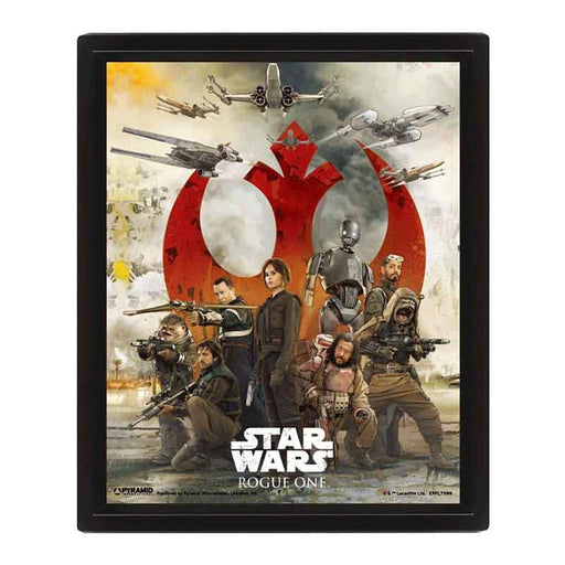 Star Wars Rogue One (Choose ASide) 3 D Poster