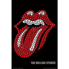 Rolling Stones Tongue GlitterFridge Magnet