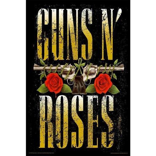Guns N Roses Two Guns Logo Poster - www.entertainmentstore.in