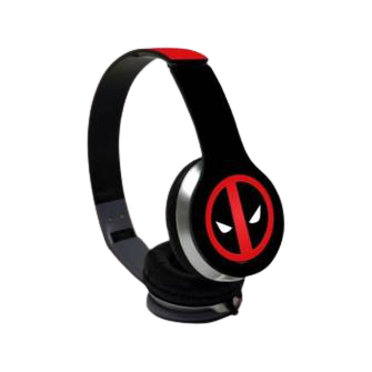 Face Focus Deadpool Wave Wired On Ear Headphones - www.entertainmentstore.in