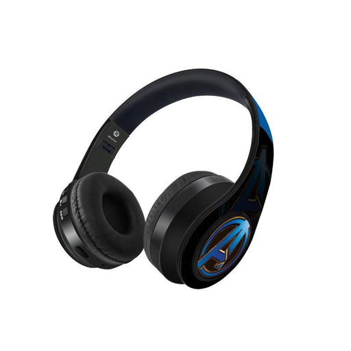 Avengers Endgame Logo Blue Decibel Wireless On Ear Headphones