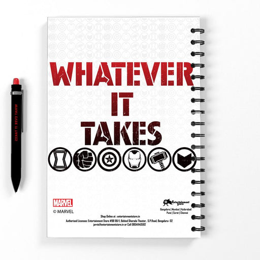 Avengers Whatever It Takes Spiral Bound Notebook - www.entertainmentstore.in