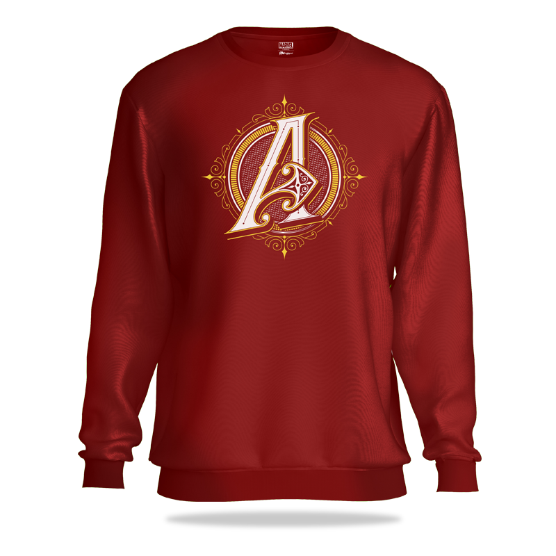 Avengers Classic Logo Dark Maroon Sweatshirt - www.entertainmentstore.in