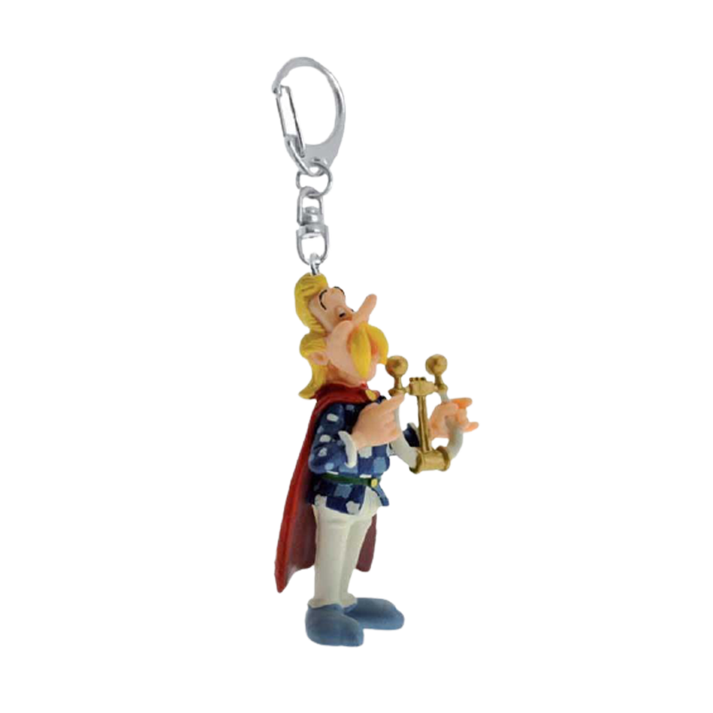 Asterix Cacofonix playing his lyre Keychain - www.entertainmentstore.in