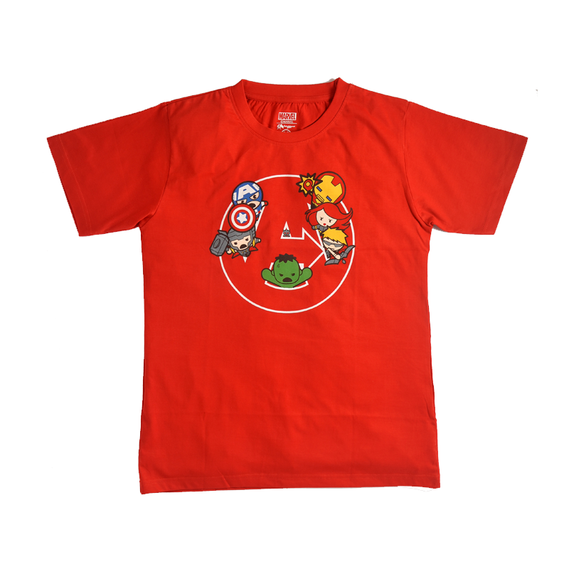 Avengers Kawaii Heroes Red MensT Shirt - www.entertainmentstore.in